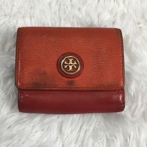 Tory Burch Orange & Purple Wallet